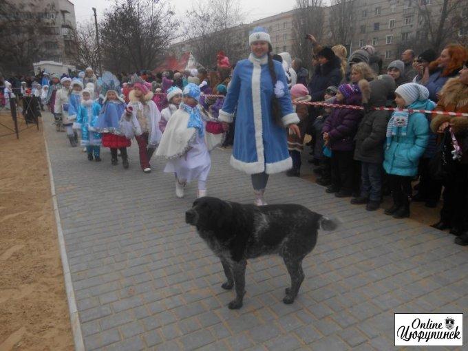 Открытие городской елки в Цюрупинске, между строк – не официально (фото)