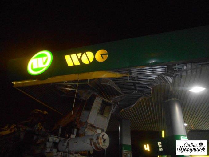 Необычное ДТП на АЗС в Цюрупинске (фото)