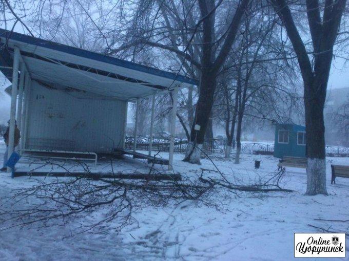 Последствия стихии в Цюрупинске (фото)