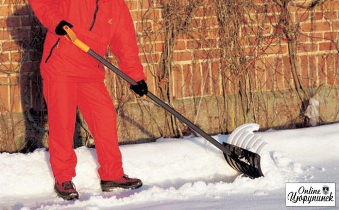 Цюрупинская власть призывает всех бороться со снегом
