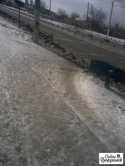 Состояние дорог в Цюрупинске