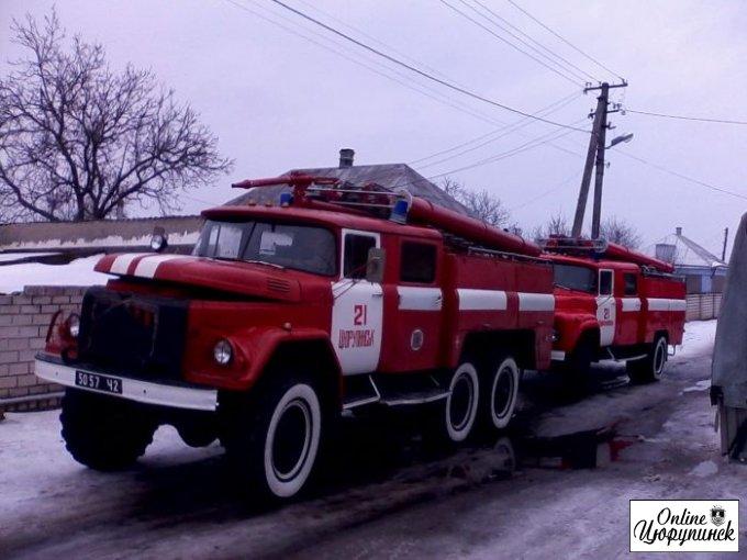 Очередной пожар в Цюрупинске (фото)