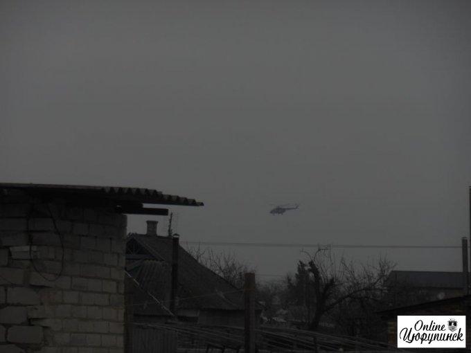 Вертолеты над Цюрупинском (фото)