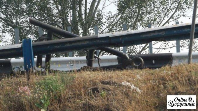 ДТП на мосту с участием военных (фото)