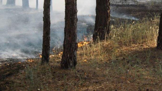 На Херсонщине горит воинская часть (фоторепортаж)
