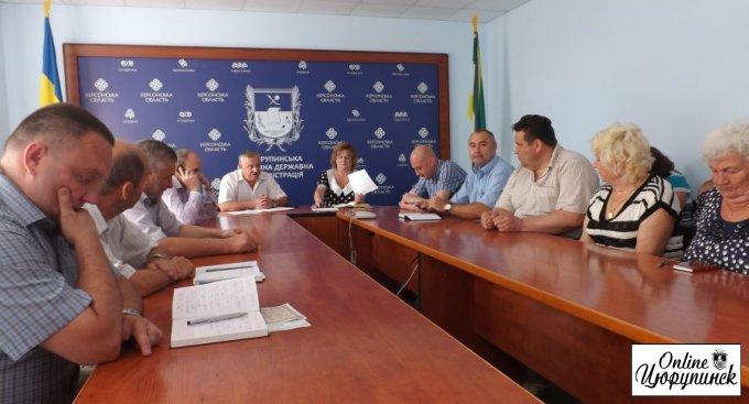 Состоялось расширенное собрание в цюрупинской районной администрации по «мусорной теме»
