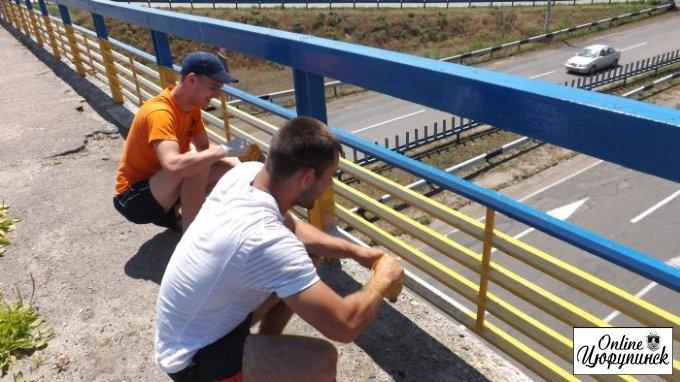 Путин ла-ла-ла на цюрупинском мосту и акция патриотов (фото)