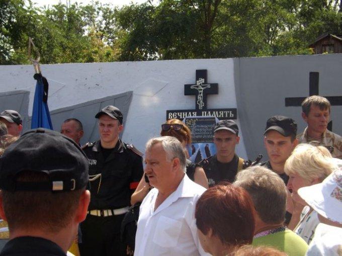 В день независимости Цюрупинск простился со своим героем (фото)