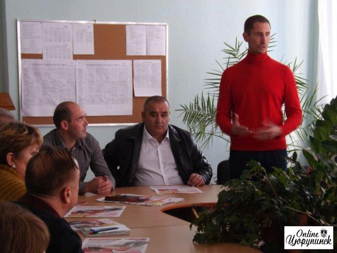 Денис Силантьев в Цюрупинске (фото)