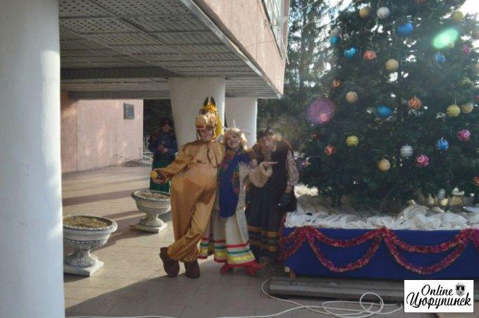 Открытие елки в Цюрупинске (фото)