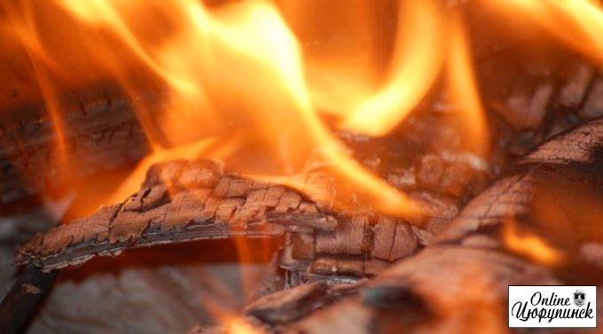 В Цюрупинске во время пожара погиб мужчина