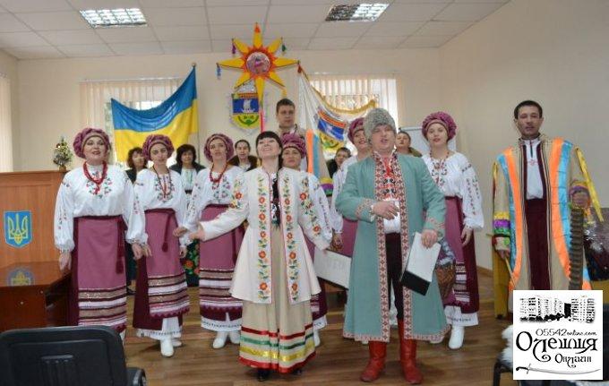 Колядники продовжують вітати жителів Цюрупинська із Різдвом Христовим