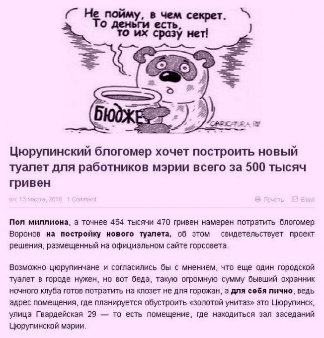 """История болезни цюрупинских """"политиков"""""""