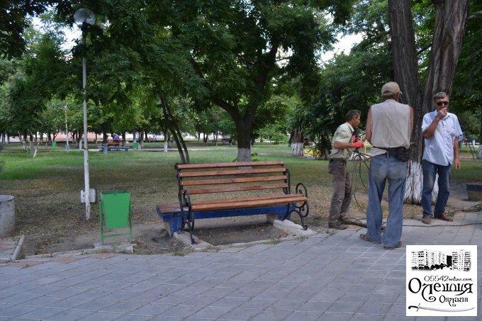 В Олешках тривають роботи з благоустрою (фото)
