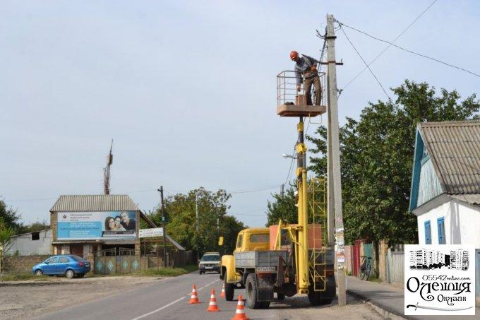 Нова якість освітлення вже на центральній вулиці міста Олешки