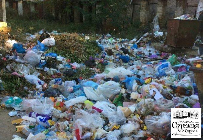 Относительно порядка и уборки во дворах многоквартирных домов в Олешках
