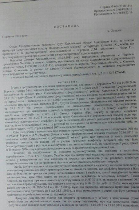 Очередной сценарий против мэра города Олешки закончился провалом