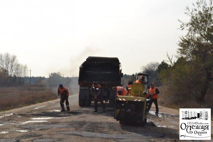 Начался ямочный ремонт дороги на Нечаево