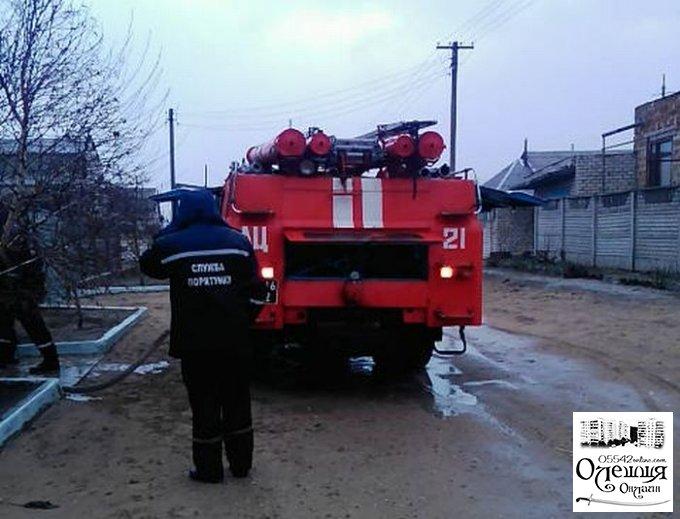 В Олешках рятувальники ліквідували пожежу в житловому будинку