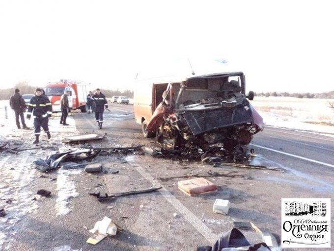 На трассе под Олешками - ДТП: один погиб, еще трое травмированы