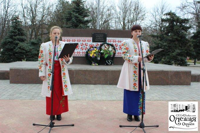 В Олешках відбувся мітинг з нагоди Дня українського добровольця