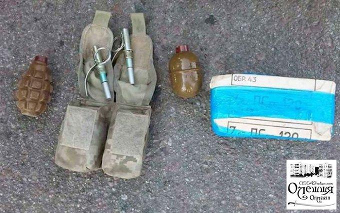 Олешковская полиция выявила в остановленном авто запас боеприпасов