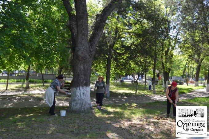 Відбувся суботник у Парку Слави
