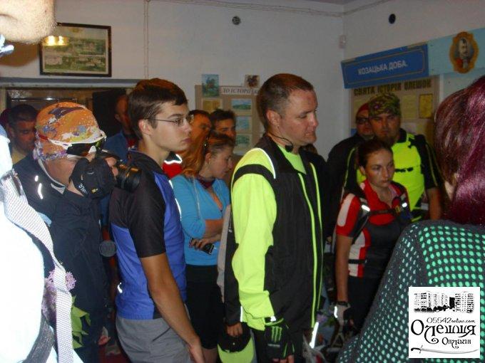 Учасники велораллі – гості Олешок