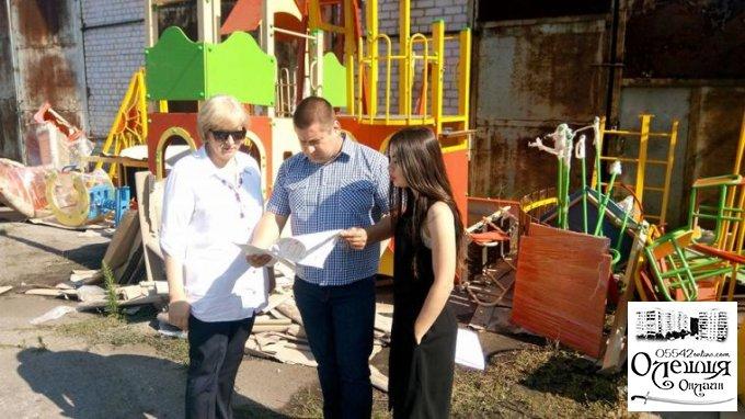 Олешкіська міська рада продовжує обладнувати дитячі майданчики
