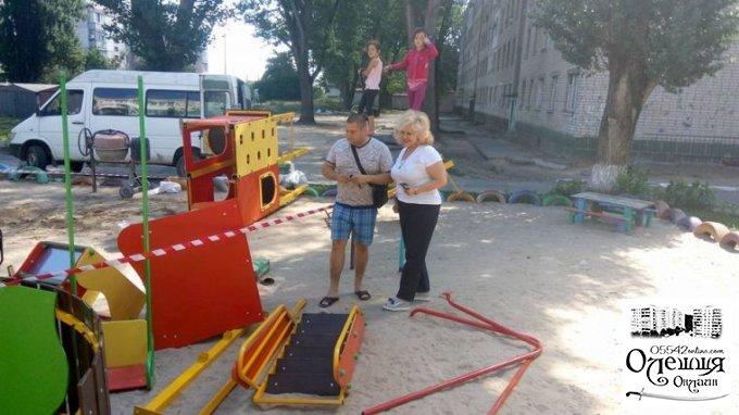 В Олешках дві нові ігрові зони для малечі