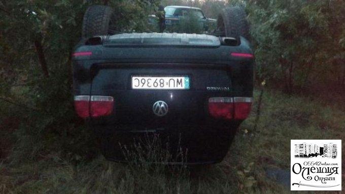 """Под Олешками разбился """"Volkswagen"""" с иностранными номерами, один человек погиб"""