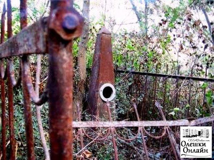 Работники Олешковского отделения полиции задержали вора оградки с могил