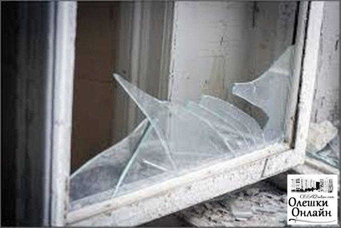 Воры пробрались в дом олешковской пенсионерки через разбитое окно