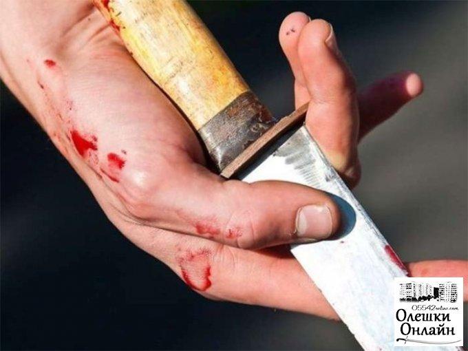 Разбой оказался попыткой суицида в Олешках