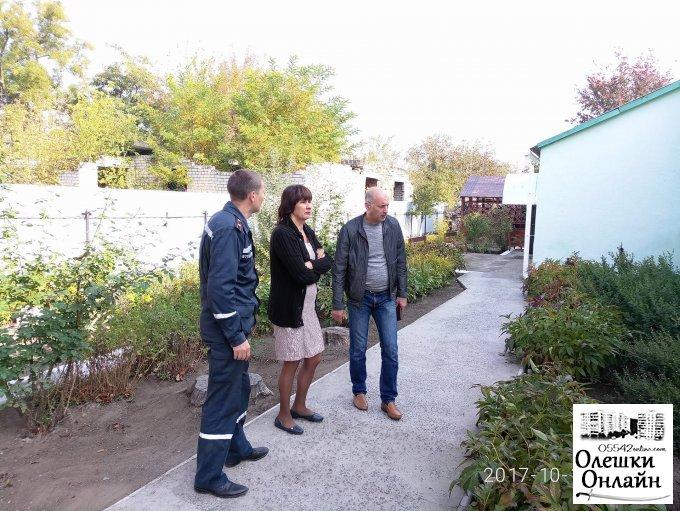 В Олешківському районі тривають перевірки органами державного пожежного нагляду