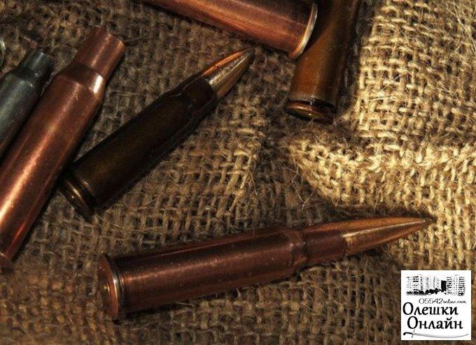 У жителя Олешек полицейские нашли 15 патронов