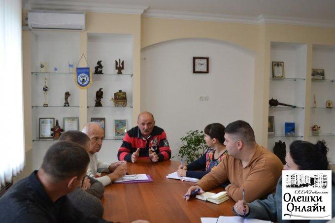 Міський голова провів ряд зустрічей з депутатами олешківської міської ради