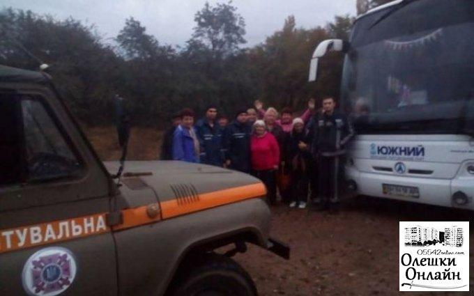 В Олешковском лесу теряются туристы