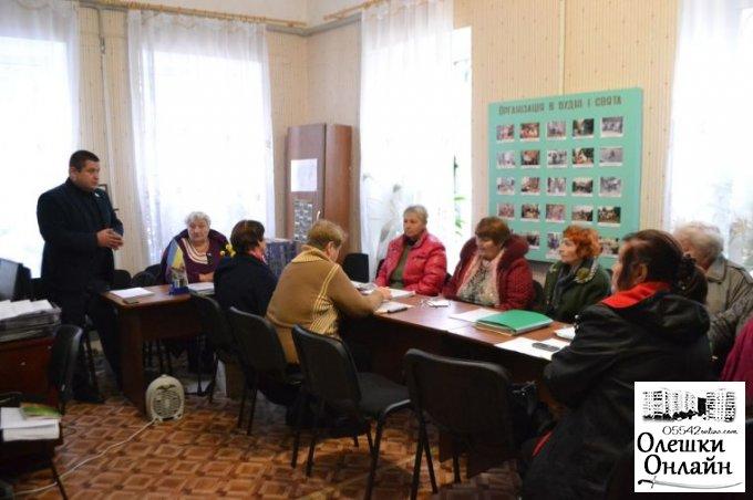 Олешківський міський голова зустрівся з ветеранами