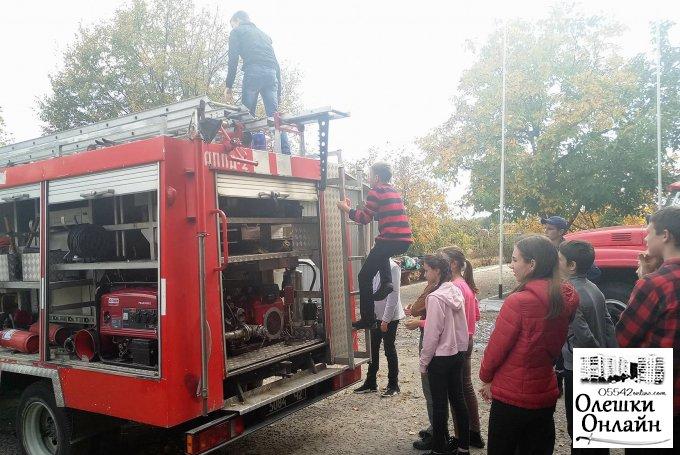 Обережно! В пожежній частині діти!