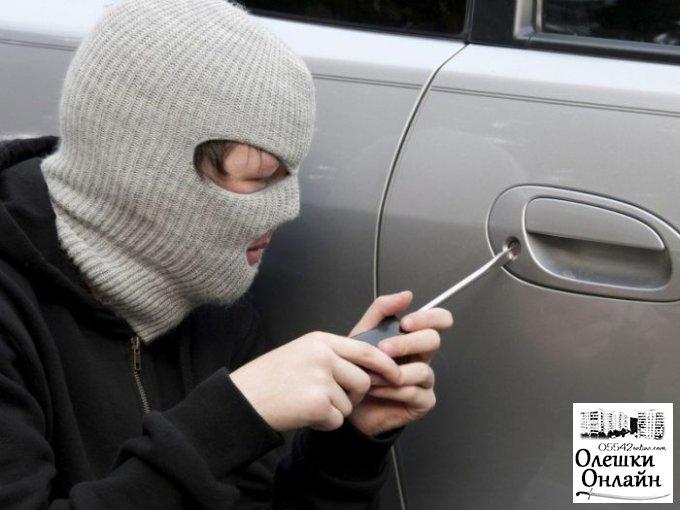 В Олешках у местного жителя из автомобиля украли 14 тыс. грн.