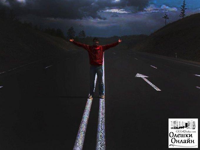 На оживленной трассе жителя Олешек спасло чудо