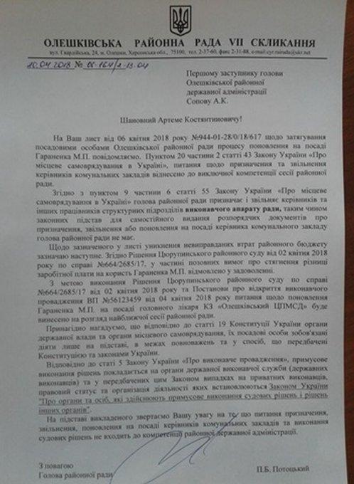 Записки сумасшедшего из Олешковской РГА