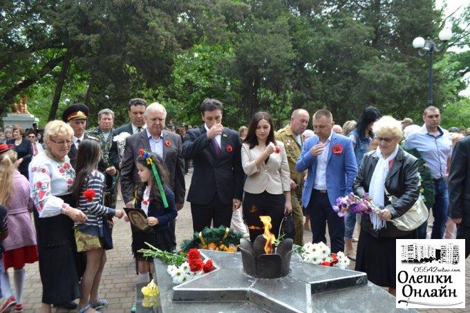 В Олешках відбувся урочистий мітинг присвячений річниці Дня Перемоги