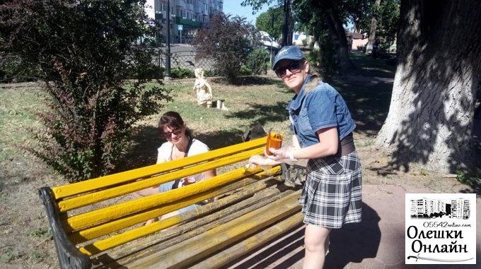 Благоустрій місць відпочинку та майданчику для дозвілля дітей в Олешках