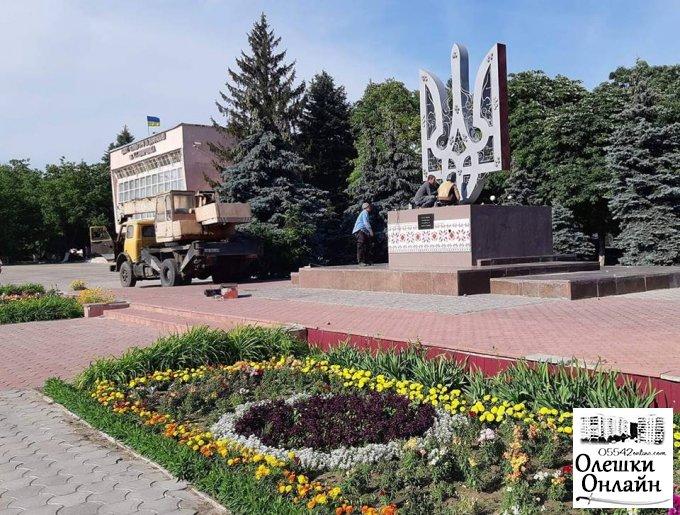 В Олешках встановлено пам'ятний знак