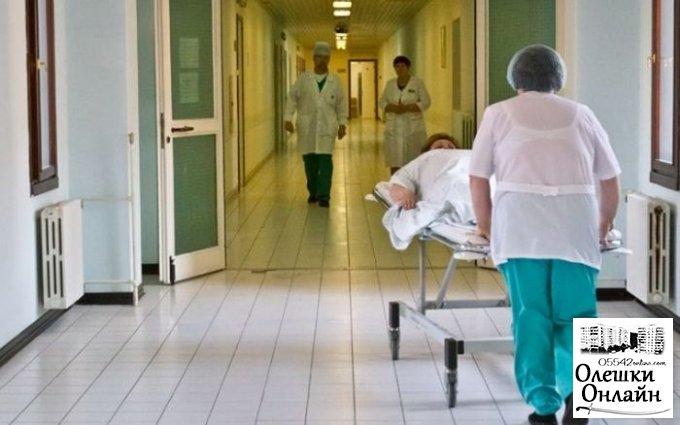Восемь человек за ночь попали в больницу в Олешках