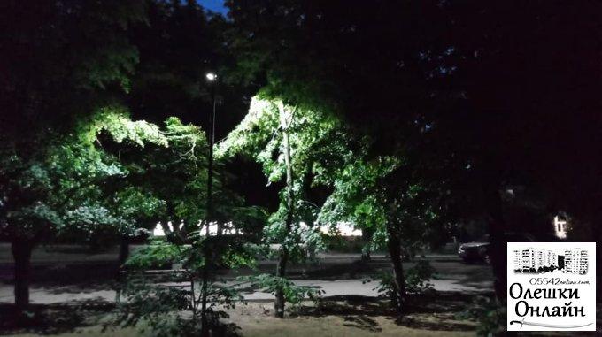 В Олешках проводять благоустрій скверу навпроти гімназії