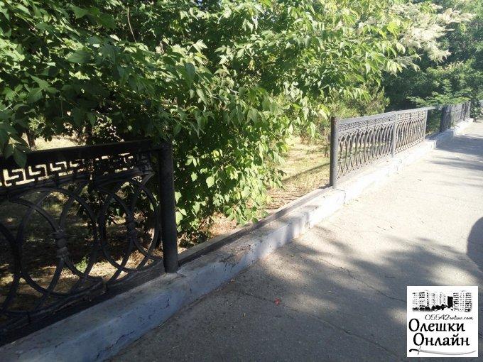 В Олешках демонтують огорожу Парку Слави?