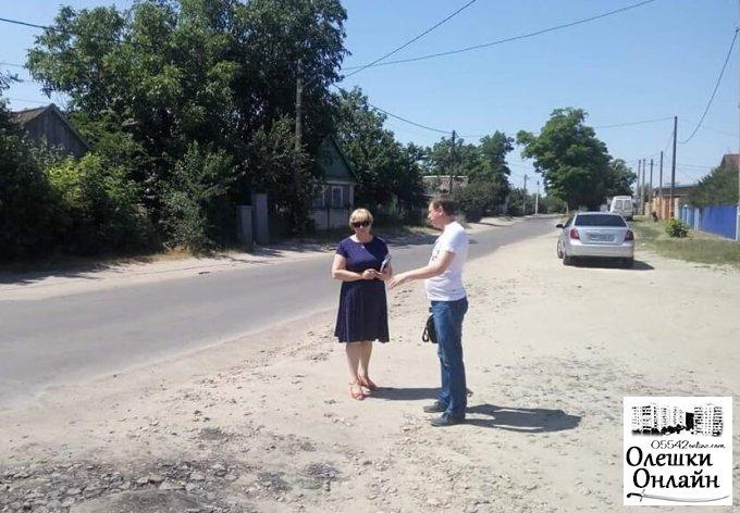 Організація безпечного дорожнього руху в Олешках